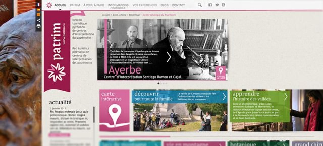 Design web Réseau PATRIM