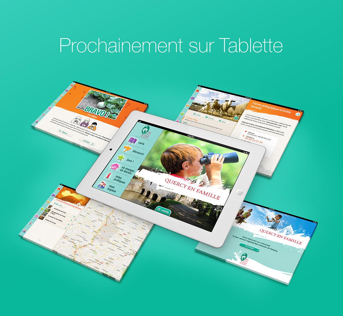 quercy en famille - version tablette prochainement disponible sur android et iOS